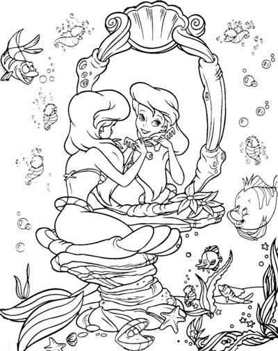 Ariel Coloring Pages