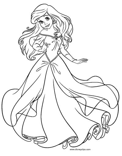 The Little Mermaid Coloring Pages — Mister Coloring | 511x400