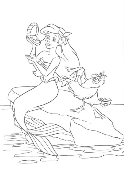 More Little Mermaid Coloring Pages