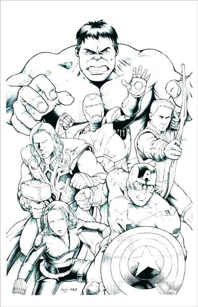 101 avengers coloring pages march 2020