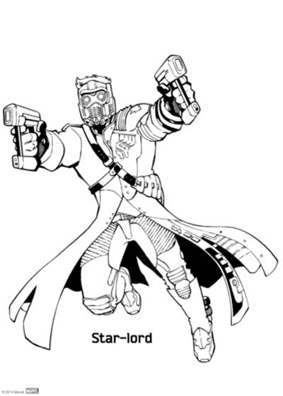Star Lord Coloring Pages