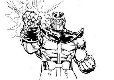 Thanos Coloring Pages