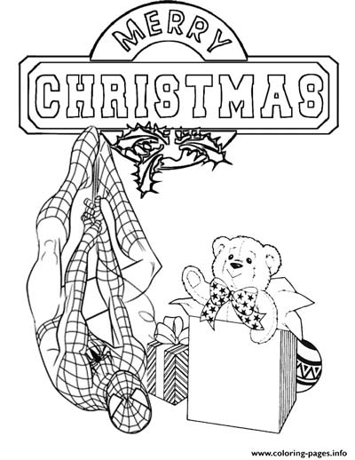 Spiderman Christmas Coloring Pages