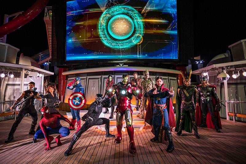 Marvel super heroes team up on Disney Cruise Marvel Day at Sea on the Disney Magic