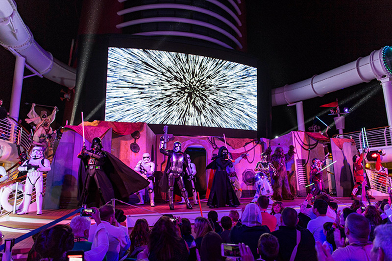Star Wars at Sea Deck Party