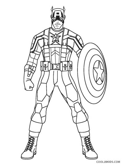 UPDATED] 50 Captain America Coloring Pages (October 2019)