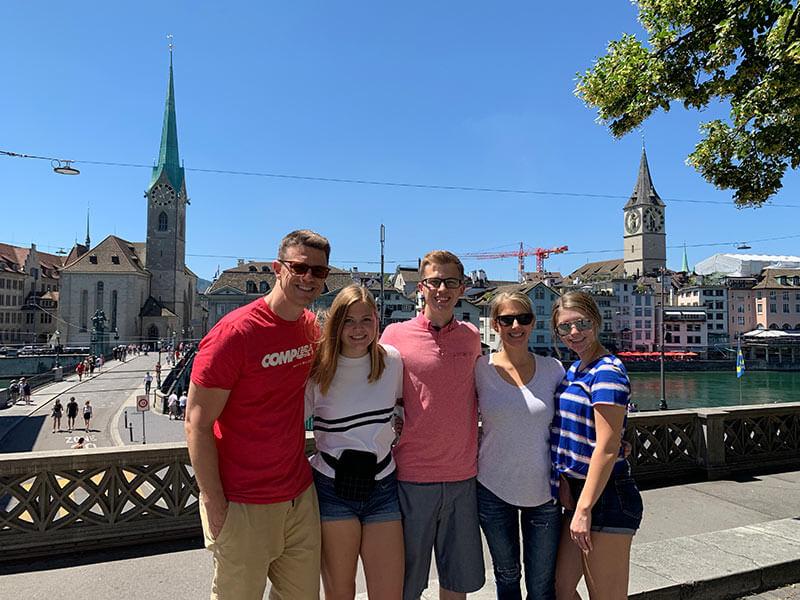 Family in Zurich, Switzerland