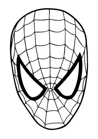 Spiderman Mask Coloring Pages
