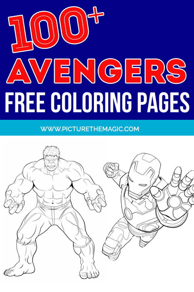 FUN! Over 100 free Avengers Coloring Pages. Free printable Avengers coloring sheets.