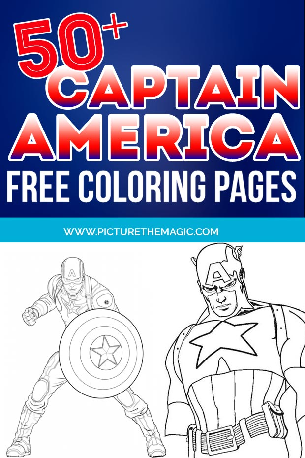 FUN! Over 50 free Captain America Coloring Pages. Free printable Captain America coloring sheets. #captainamerica #marvel #avengers #coloring