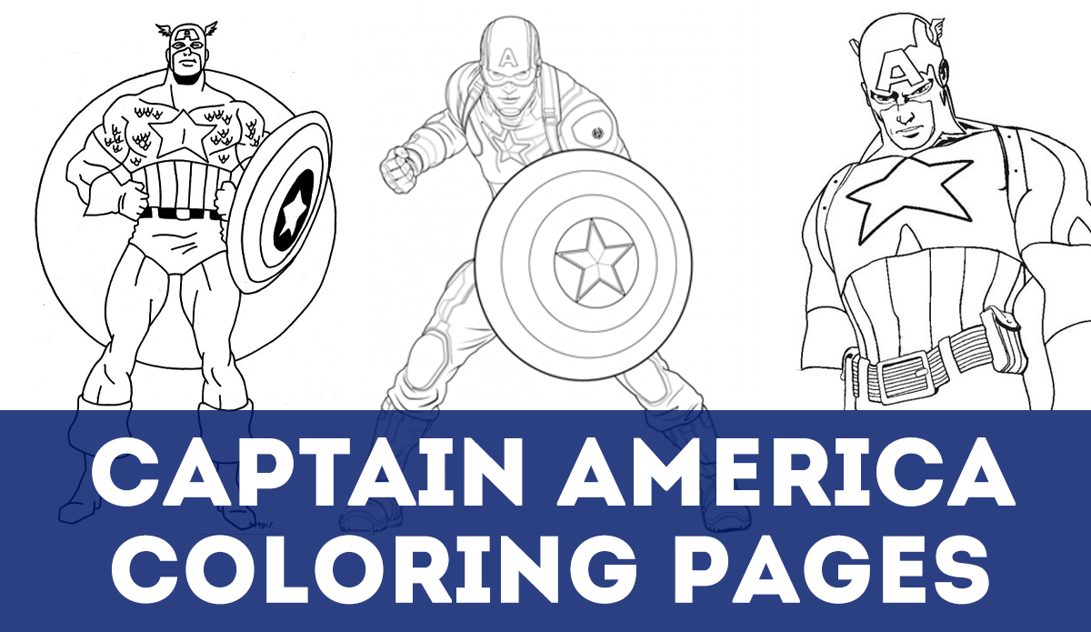 Updated 50 Captain America Coloring Pages November 2019