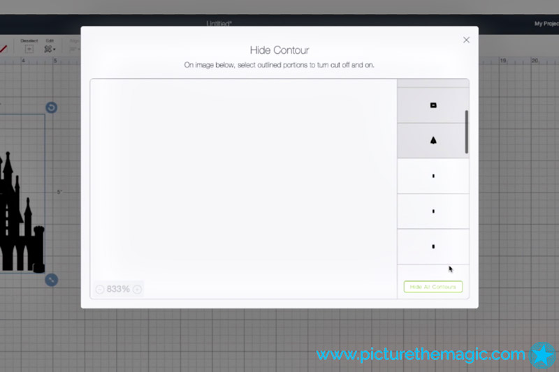 Cricut Design Space - Hide all contours