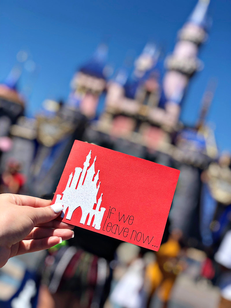 How to make a custom Disney card with Cricut