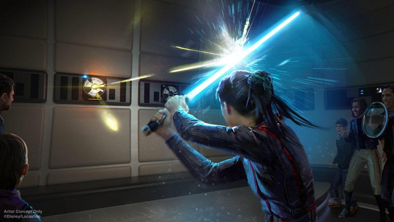 Light Saber Training on Star Wars Galactic Cruiser