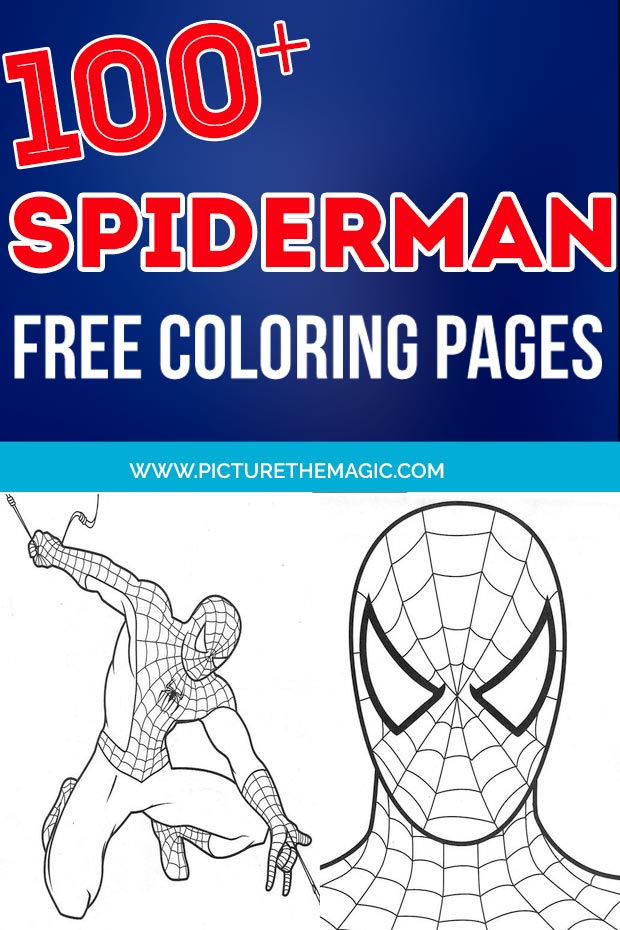 FUN! Over 100 free Spiderman Coloring Pages. Free printable Spiderman coloring sheets.