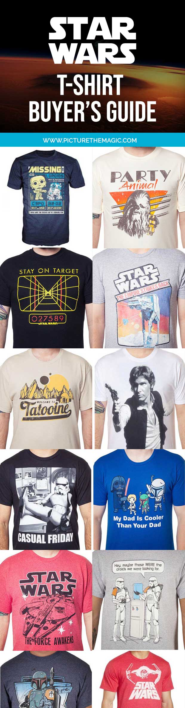 101 EPIC Star Wars T-Shirts! The best Princess Leia, Darth Vader, Yoda, Han Solo, Kylo Ren, and Chewbacca tshirts of the year.
