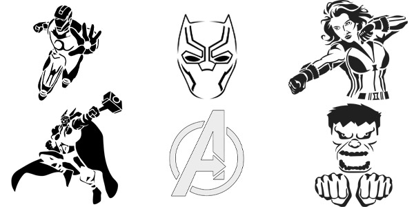 pumpkin template avengers  HALLOWEEN: 6+ Printable Disney Pumpkin Stencils (6)