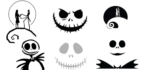 graphic about Jack Skellington Pumpkin Stencils Free Printable known as HALLOWEEN: 200+ Printable Disney Pumpkin Stencils (2019)