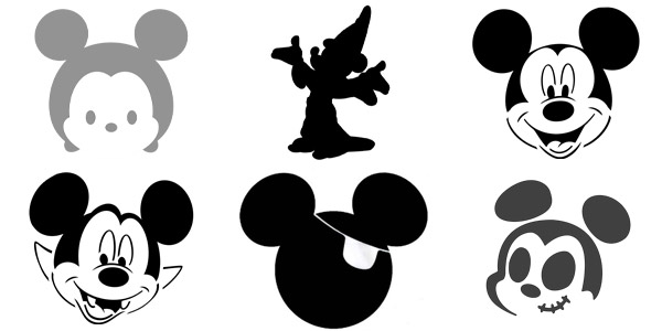It is a picture of Mickey Mouse Hands Printable in gangster