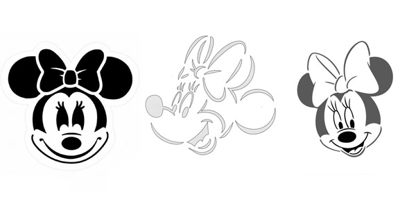 picture about Minnie Mouse Pumpkin Stencil Printable named HALLOWEEN: 200+ Printable Disney Pumpkin Stencils (2019)