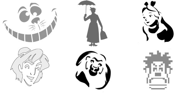 photo about Minnie Mouse Pumpkin Stencil Printable titled HALLOWEEN: 200+ Printable Disney Pumpkin Stencils (2019)