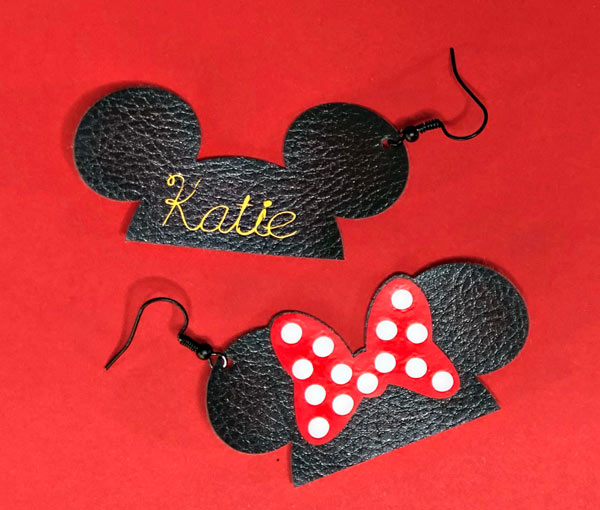 How to Make Mickey & Minnie Earrings with Cricut