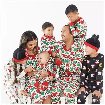 Disney Mickey Mouse Christmas Collection Matching Pajamas