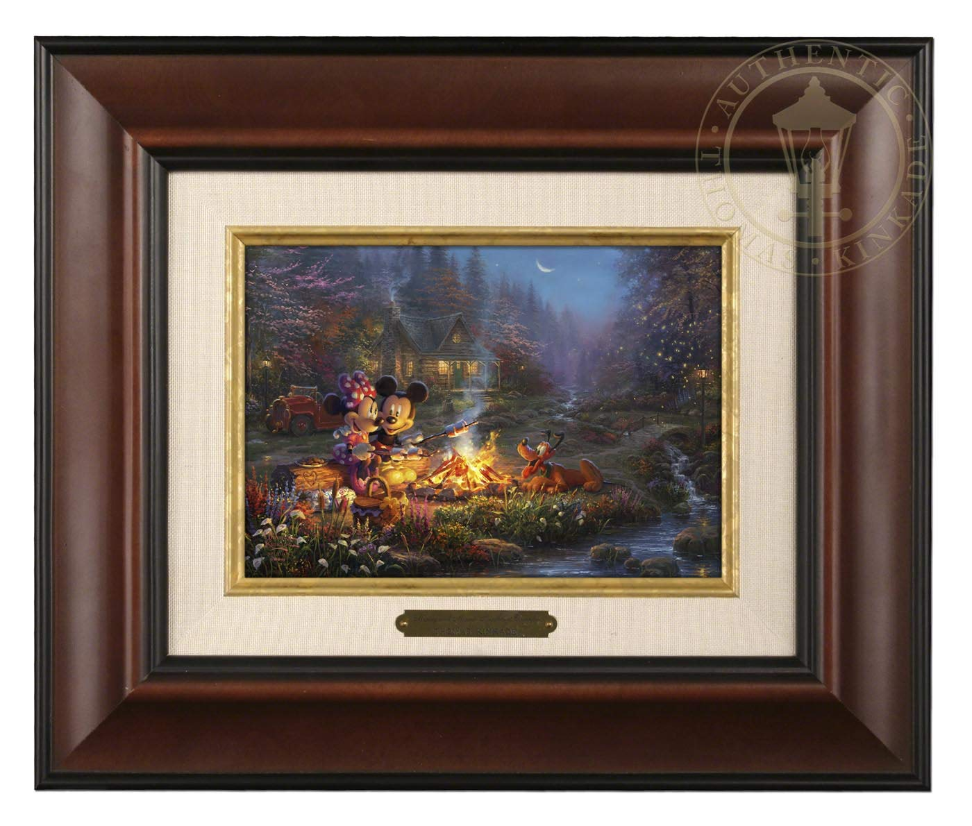 Best Thomas Kinkade Disney Painting: Mickey and Minnie Mouse Sweethearts Cafe