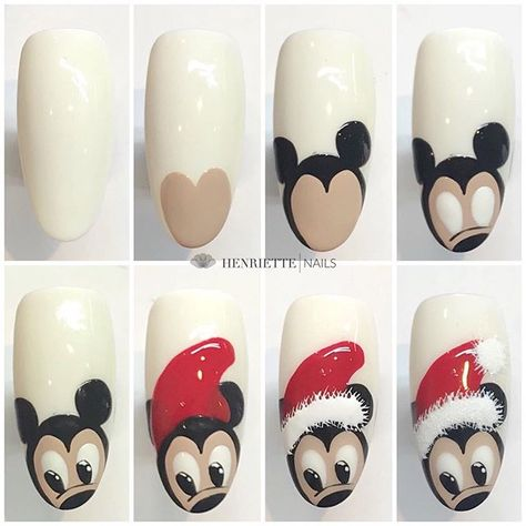 These nails are perfect for the holiday season. Imagine yourself wearing these acrylics at Mickey's Christmas Party or watching the Disney iconic Christmas Carol.