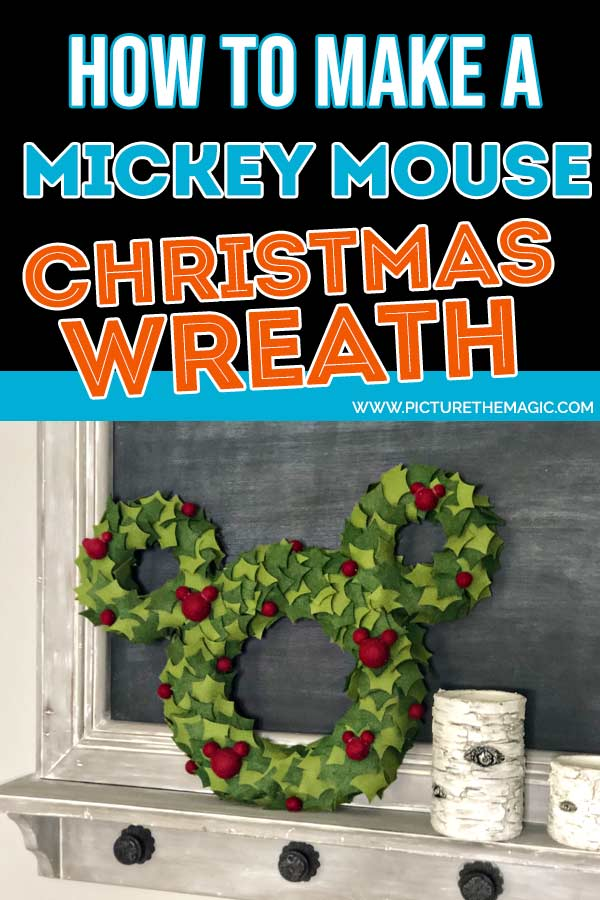 How to Make a Mickey Mouse Christmas Wreath