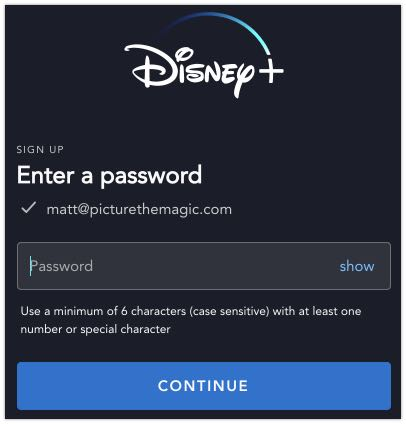 Step 2: Create a free Disney+ account to get a free Disney plus trial