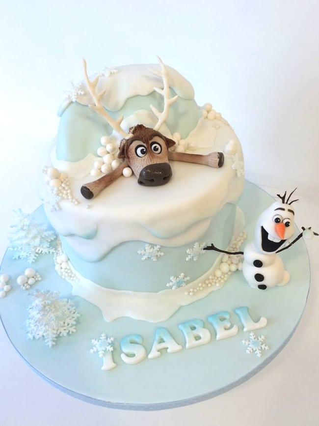 Sven & Olaf Birthday Cake for Frozen Party Ideas