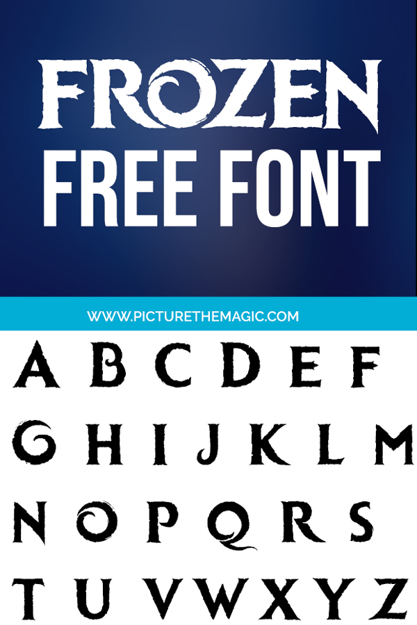 "Download the best free Frozen font! You'll love this Frozen 2 font so much you'll never want to ""let it go"" #frozen #frozen2 #typography #cricut"