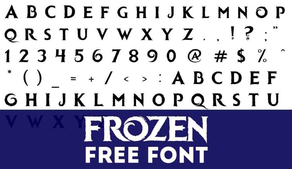How to Download Free Frozen Font