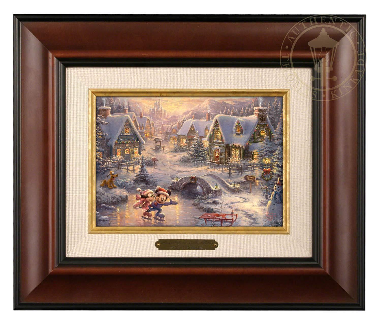 Best Thomas Kinkade Disney Painting: Mickey & Minnie Mouse
