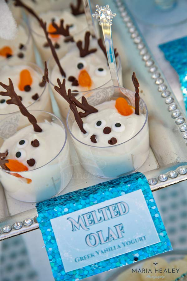 Melted Olaf is a great party food ideas for any Frozen birthday party.