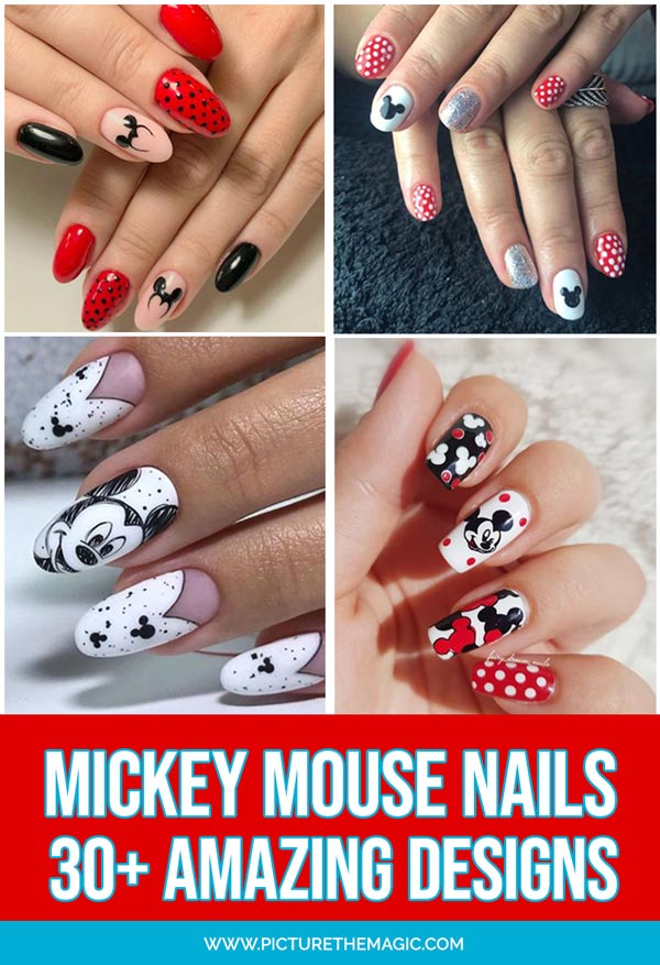 30+ Amazing Mickey Mouse Nail Designs