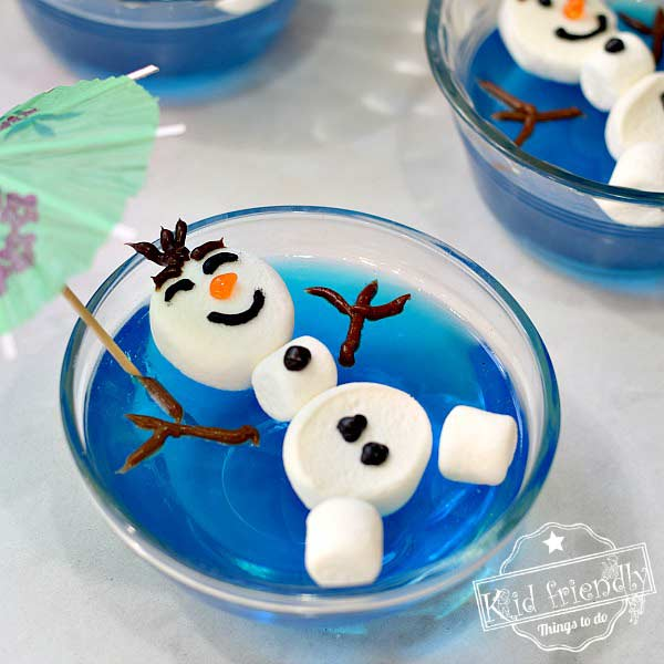 Olaf Jello for an Olaf Themed Frozen Birthday party