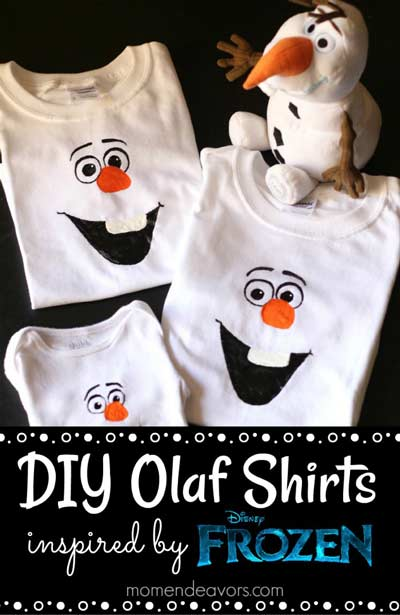 DIY Olaf shirts for Frozen Birthday parties
