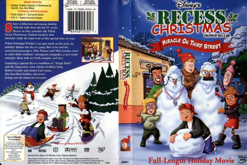 Recess Christmas: Miracle on Third Street - Best Disney Christmas Movies list