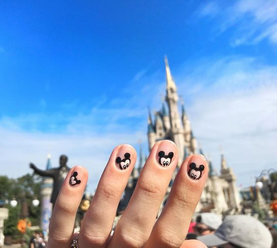 Micky Mouse popping up on your fingertips.