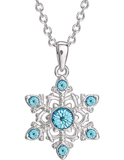 Frozen 2 Crystal Snowflake Necklace