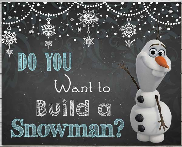 Olaf Snowman Invitation for Frozen Party Ideas