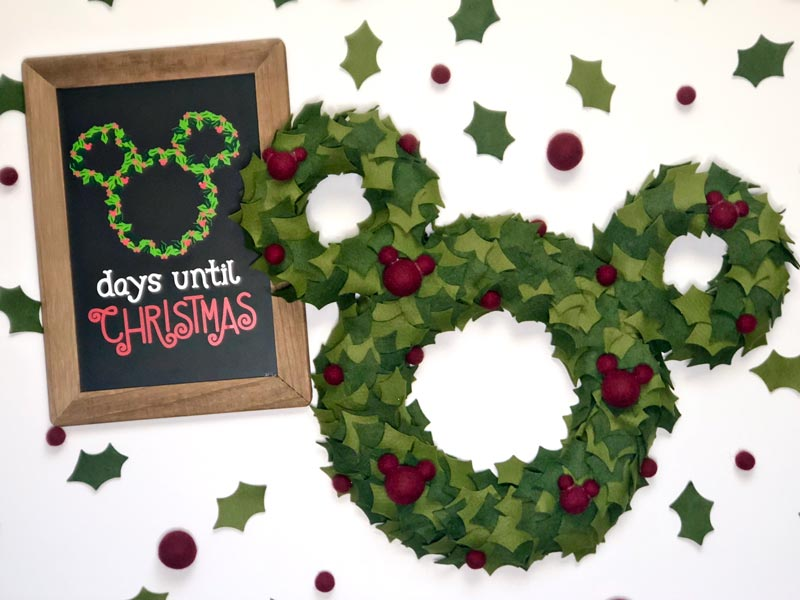 How to Make a Mickey Mouse Inspired Christmas Wreath