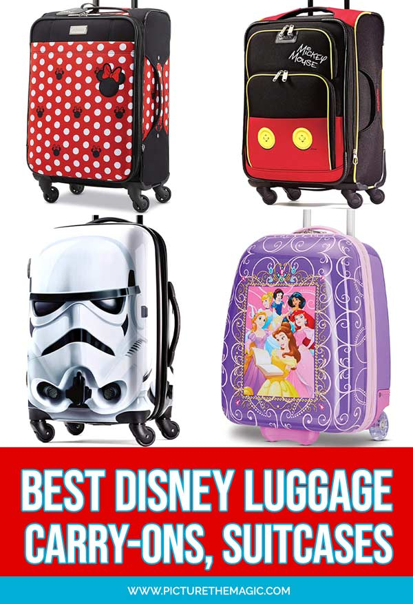 This list of the best Disney Suitcases will help you find the perfect Mickey Mouse or Disney luggage - for both adults and kids! #disney #luggage #travel #disneyland #mickeymouse #starwars #minniemouse #frozen2