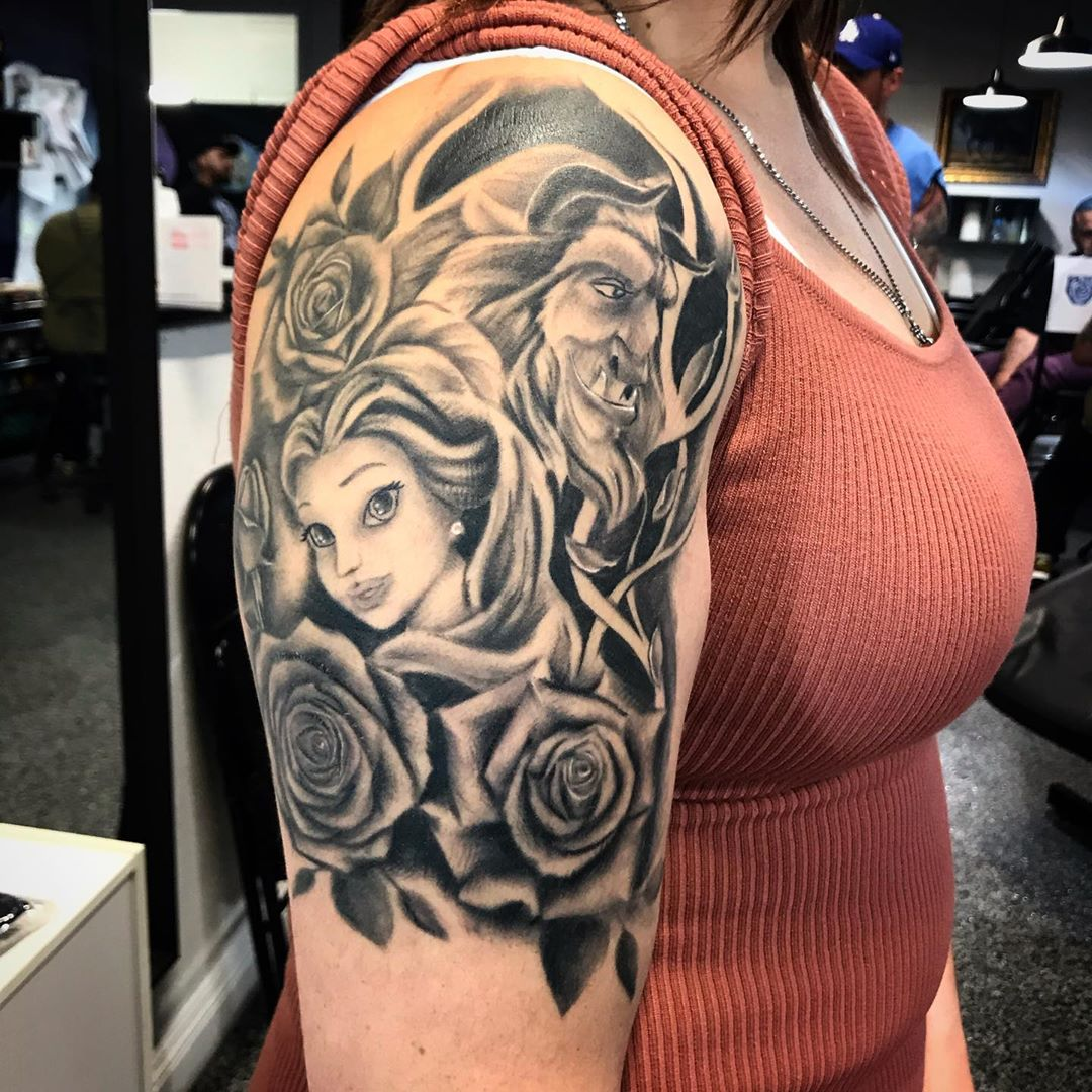 UPDATED: 44 Beauty and the Beast Tattoos (Updated Feb 2020)
