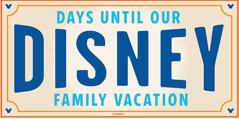 Disney Vacation Countdown-Disney Vacation Banner-Family Disney Trip Banner-Vacation Countdown