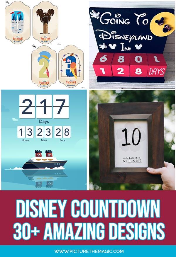 The Best Disney Countdown apps, calendars, and DIY crafts! #disney #disneycruise #disneyland #waltdisneyworld