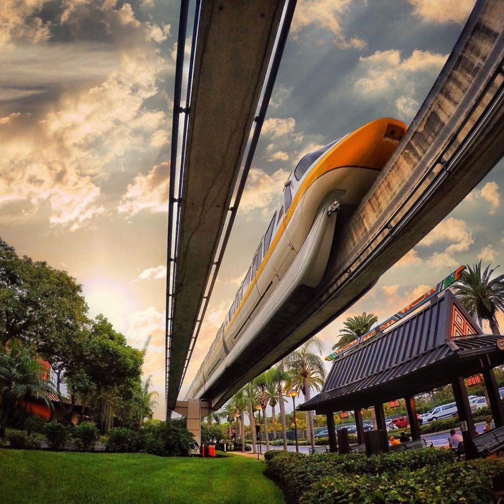 Monorail at Polynesian Resort at Disney world
