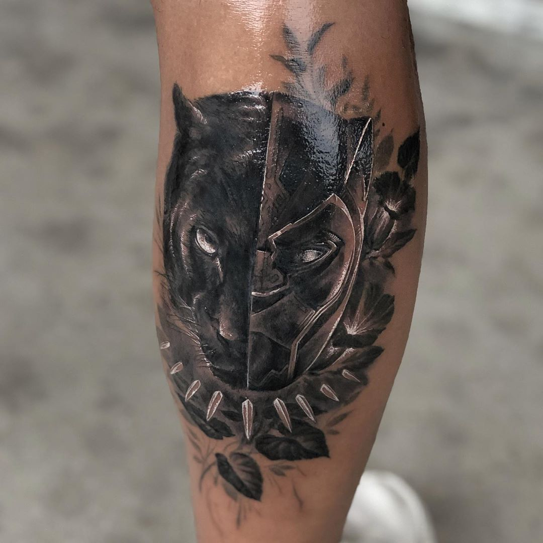 Look at this Black Panther Tattoo idea
